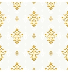 Seamless pattern with golden ornament vector
