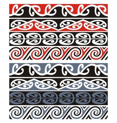 maori designs vector image