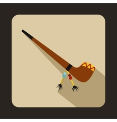 Smoking pipe icon flat style vector