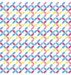 Color petal seamless pattern vector