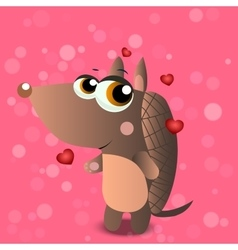 A cute armadillo vector