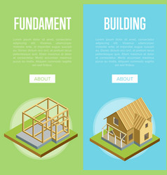 Architectural engineering isometric 3d concept vector