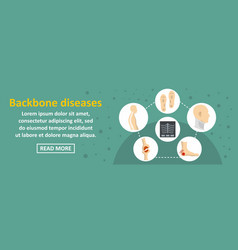 Backbone diseases banner horizontal concept vector