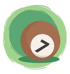 Billiard Ball Number 7 Brown vector image