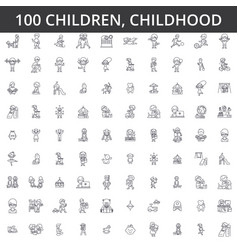 children childhood preschooler newborn kid vector image vector image