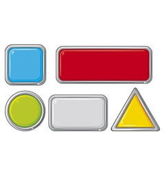 collection of five buttons vector image vector image