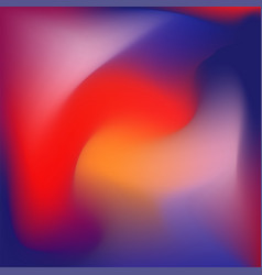 Colorful gradient background blue red and orange vector