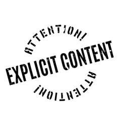 Explicit content rubber stamp vector