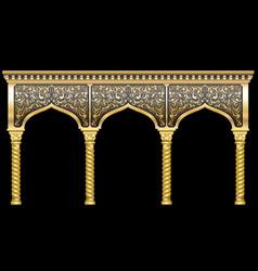 Facade with ornament vector