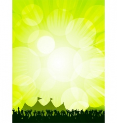 festival and crowd vector image vector image