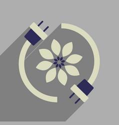 Flat web icon with long shadow eco energy vector