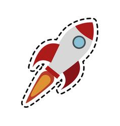 flying rocket icon image vector image vector image