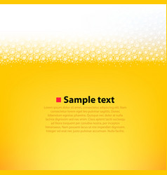 foamy beer bright background vector image
