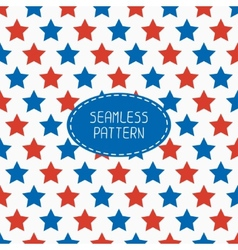 Geometric patriotic seamless pattern with red vector