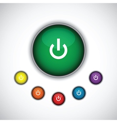Green on button vector