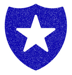 guard shield icon grunge watermark vector image