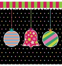 hanging decorations vector image vector image