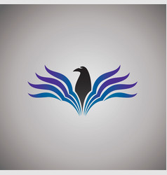 hawk logo ideas design vector image vector image