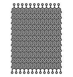 Hexagon block pattern vector