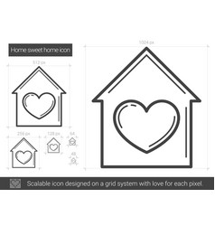Home sweet home line icon vector