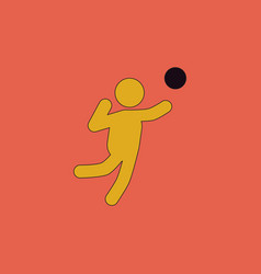 Icon of vollyball on color background eps-10 vector