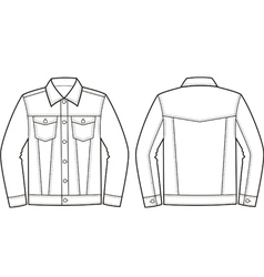 Jeans jacket vector image vector image