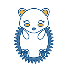 Kawaii porcupine icon vector