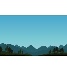 Landscape of mountain with blue sky vector image vector image
