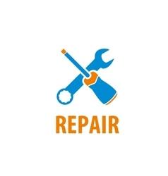 logo for repair vector image vector image