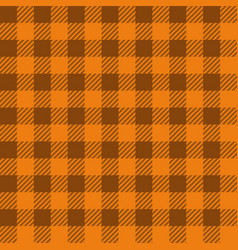 orange lumberjack seamless pattern vector image