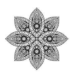 Ornament ethnic mandala vector image vector image
