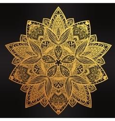 Paisley floral lotus mandala vector