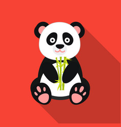 panda icon in flat style isolated on white vector image vector image
