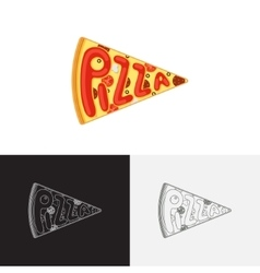 Pizza logo template vector image