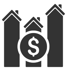 Realty price charts flat icon vector