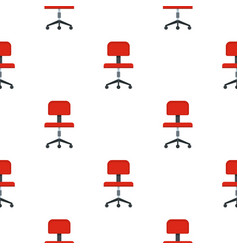 Red office a chair pattern flat vector