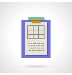 Results spreadsheet flat color icon vector