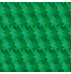 Seamless pattern with fir-tree vector image vector image