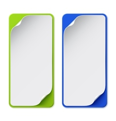 Set of two colorful banners vector image vector image