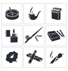 Smoking icon collection vector