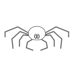 Spider the black color icon vector