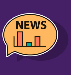 sticker breaking news online announcement message vector image vector image