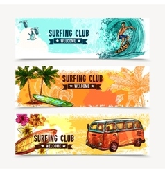 Surf Banner Set vector image vector image