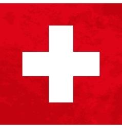 Switzerland flag with grunge texture vector image vector image