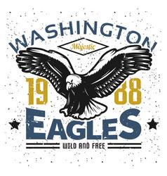Vintage american eagle logo template vector
