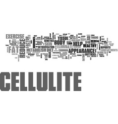 What you need to know about cellulite text word vector