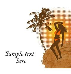 woman in a bathing suit on the beach vector image vector image