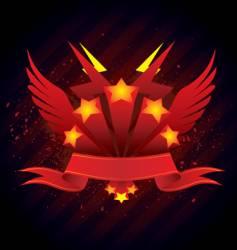 banner emblem vector image