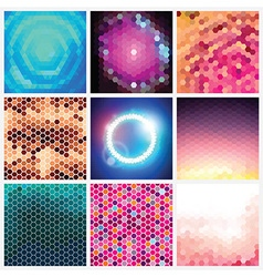 Hexagonal Pattern Set vector image