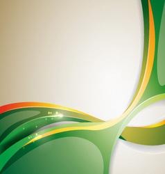 volume green lines vector image